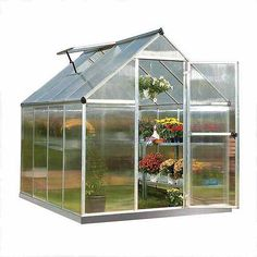 Palram Gewächshaus Mythos x 185 x 208 cm, Silber/Transparent) Palram plants aquaponics system Palram Gewächshaus Mythos x 185 x 208 cm, Silber/Transparent) Palram Walk In Greenhouse, Cheap Greenhouse, Greenhouse Effect, Backyard Greenhouse, Greenhouse Wedding, Greenhouse Plans, Underground Greenhouse, Homemade Greenhouse, Portable Greenhouse