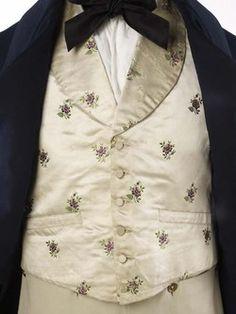 c.1840 brocaded silk satin waistcoat, Museum of London.