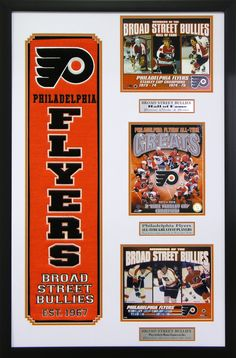 Philadelphia Flyers NHL Wall Art. Perfect decor for a man cave, basement or office! Great gift for the sports fan in your life.