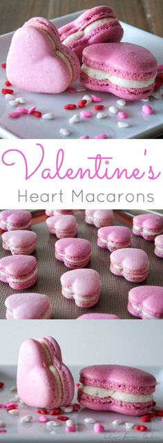 These adorable cinnamon spiced heart macarons are the perfect way to celebrate Valentine's Day.   livforcake.com