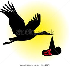 stork baby silhouette vector - Google Search