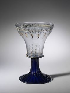 Goblet, Italy (Venice), ca 1500-1550, Glass, enamelled and gilt, Height: 27.0 cm.