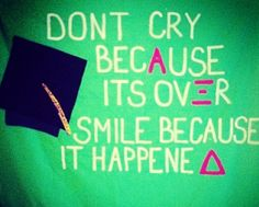 graduation banner - change the letters obviously but for all our seniors it's super cute!