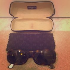 Chanel sunglasses. Dark brown and tortoise authentic Chanel sunglasses. Used with scratches on lenses. 2006 editions. Non prescription. Case and lens cloth included with purchase. 100 % authentic. CHANEL Accessories Sunglasses