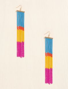 Colorful Chains Earrings from LoveCulture $8