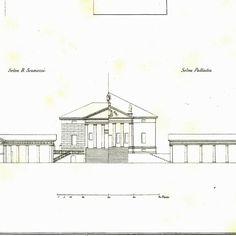 Palladio Villa Badoer 1842 Architectural от CarambasVintage
