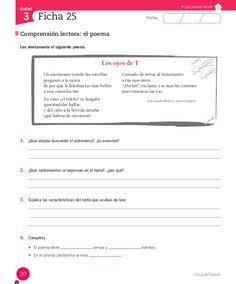 Cuaderno Actividades Lenguaje 5º Boarding Pass, Language, Kids, Texts, Spanish, Reading Comprehension, Reading Comprehension, Poetry Activities, Kids Learning Activities