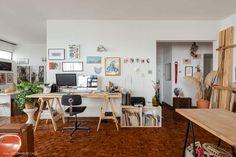 Studio Interior, Interior Design, Artist Workspace, Minimalist Office, Loft, Bedroom Vintage, Apartment Living, Decoration, Sweet Home