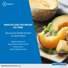 Need a reason to eat Musk Melons this summer? Just take a bite! If the taste alone doesn't convince you, its numerous health benefits will surely do. #HealthTips