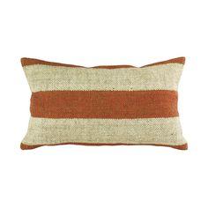Kilim Pillow Orange Stripe