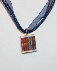 Book Lover Scrabble Tile Pendant by GreyGyrl on Etsy, $5.00