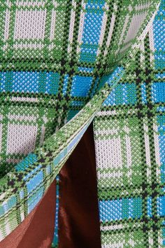 Prada - Plaid Stretch-knit Dress - Green - IT