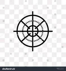 Sniper Gun Target vector icon isolated on transparent background, Sniper Gun Target logo concept vector#icon#Target#Sniper