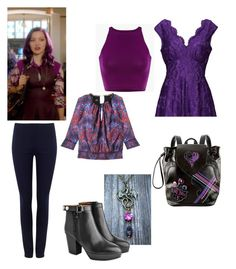 """""""descendants mal"""" by maria-calinaa on Polyvore featuring Disney, Jolie Moi, Bebe, Phase Eight and Acne Studios"""
