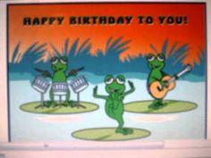 Dancing Birthday Frog - YouTube