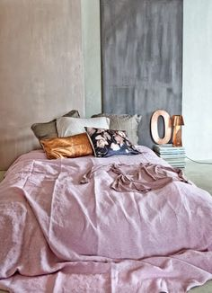 Pink & grey  copper & lilac