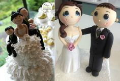 How To Make A Bride & Groom Wedding Cake Topper - Cake Geek Magazine Bling Wedding Cakes, Wedding Cupcakes, Wedding Cake Toppers, Cake Decorating Techniques, Cake Decorating Tutorials, Modeling Chocolate Figures, Geek Magazine, Bride And Groom Cake Toppers, Cake Topper Tutorial