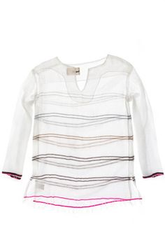 sheer striped tunic by LemLem Lemlem, Open Weave, Dress Codes, Fashion Details, What To Wear, Summer Outfits, Style Inspiration, My Style, Liya Kebede