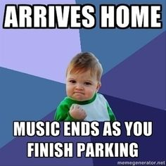 Arrives home. Music ends as you finish parking. Memes Humor, Funny Memes, Music Memes, Music Humor, Sound Of Music, Music Is Life, Fun Music, Music Stuff, Fun Stuff