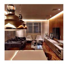 Projeto Figueiredo Fischer - sala de estar, iluminação, painel tv