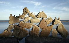 Peter Riedel makes art from balancing boulders