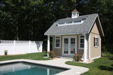 15' x 14' Liberty A Frame Poolhouse (Duratemp Siding) Southern style elegance make this gorgeous poolhouse a stand out from the crowd...