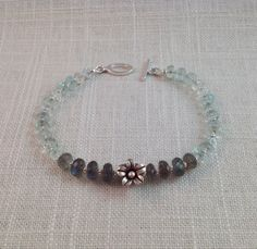 Aquamarine Labradorite & Sterling Silver by JNayJewelry on Etsy