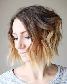 Loose Waves for short hair- video tutorial from ONE little MOMMA