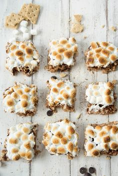 Toasted S'mores Rice Krispie Treats Recipe | Sugar & Cloth