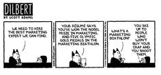 esnsa.org/pics/Dilbert_Biathlon.JPG     Funny comic cartoons you can use to help market your websites, blogs, videos and Social Network!.  Get them now at http://wchasen.com/marketingcartoons