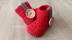 20 Pola Crochet Gratis Sepatu Bayi - She Nisa Crochet Gratis, Crochet Art, Free Crochet, Crochet Patterns, Crochet Stitches, Crochet Baby Boots, Booties Crochet, Crochet Slippers, Knitted Baby