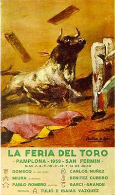 Cartel San Fermín 1959 por Andrés Martínez de León