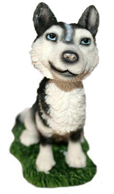 Siberian Husky Dog Bobble Head Doll $6.99.  I so want this!!