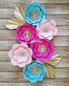 Paper Flower Wall Custom And Handmade To Order 8x 10 Can Be Made