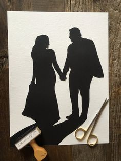 Custom Anniversary Paper Portrait 8 by 10 Wall Art – First Anniversary Paper Gift - Modernes Wedding Silhouette, Silhouette Art, Wedding Art, Wedding Photos, First Anniversary Paper, Traditional Anniversary Gifts, Silhouette Pictures, Photo Look, Paper Gifts