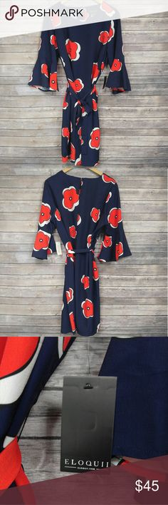 Eloquii printed flare sleeve dress This dress cannot be modeled but is available for a visual look via google! Eloquii Dresses