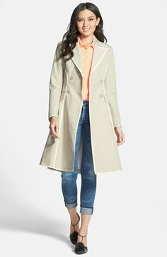 SJP by Sarah Jessica Parker SJP 'Manhattan' Grosgrain Trim Skirted Trench Coat (Nordstrom Exclusive) available at #Nordstrom