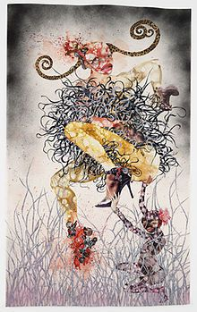 One Hundred Lavish Months of Bushwhack Wangechi Mutu (Kenyan, born Cut-and-pasted printed paper with watercolor, synthetic polymer paint, and pressure-sensitive stickers on transparentized paper Collages, Collage Artists, Museum Of Modern Art, Art Museum, Exquisite Corpse, African Artists, Figure Painting, Art World, Contemporary Artists