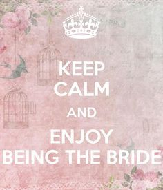 Keep Calm And Enjoy Being The Bride Carry On Image Generator