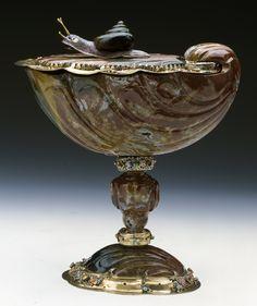 "jaspe con caracol en la tapa"", Johann Daniel Mayer, siglo XVII / 1662-1675"