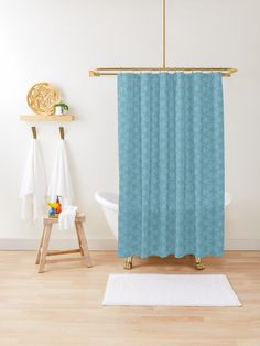 """Milky Blue #1"" Shower Curtain by Kettukas 