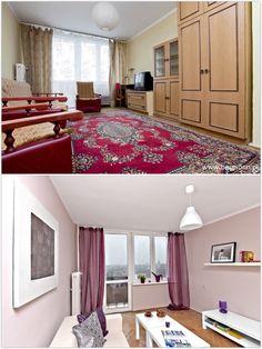 Mieszkanie na sprzedaż w Olsztynie. Home staging - widok z salonu na południową stronę.    #MieszkaniaOlsztyn