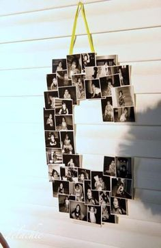 Such a cute idea for a birthday party, anniversary party o… Letter photo collage. Such a cute idea for a birthday party, anniversary party or graduation party. 21 Party, Graduation Open Houses, High School Graduation, Graduation Celebration, Graduation Gifts, Graduation Ideas, Graduation Quotes, Graduation 2016, Graduation Photo Displays