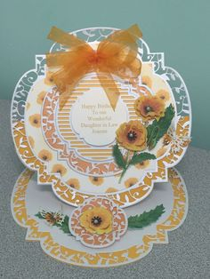 Made by Karen Leonard - Card made using Tattered Lace Charisma Die, and Tonic Twisting Veranda