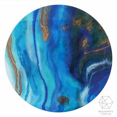 Resin Wall Art round flow paint resin wall art | art_t_designs | pinterest | flow