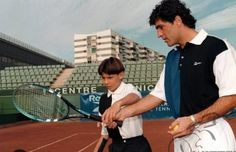 Rafa Nadal with his uncle