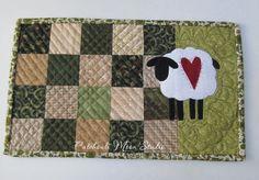 Patchouli Moon Studio~Sheep Mug Rug  Quilting design