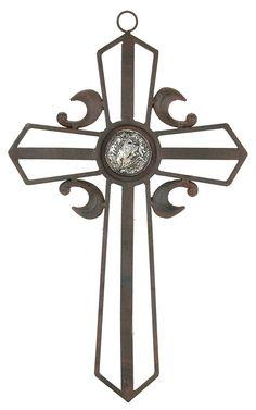 M Metal Cross Wall Hanging