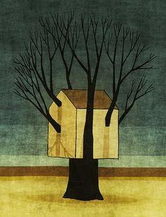 La vida dels arbres i larbre de la vida: il·lustracions de Toni Demuro  Live in a house that remembers the Forest.