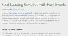 Font Loading Revisited with Font Events